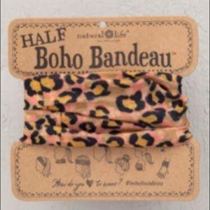 Natural Life Half Boho Headband Bandeau OrangeBlac